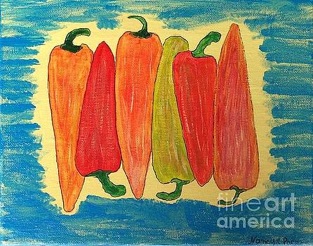 Happy Peppers by Nancy Pace