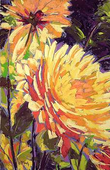 Happy Sunshine Dahlias by Mary McInnis