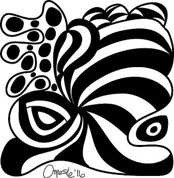 Happy Thanksgiving 2016 Abstract Black and White Art by Omashte by Omaste Witkowski