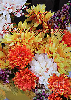 Sandra Huston - Happy Thanksgiving Floral Card