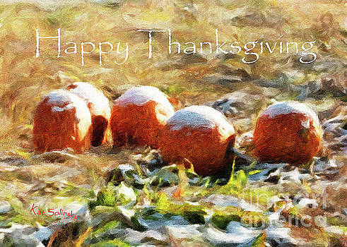 HAPPY THANKSGIVING II - Abstract Pumpkin Patch by Kat Solinsky