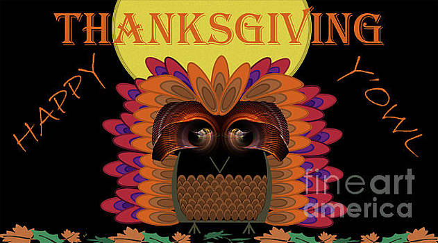 Happy Thanksgiving Y'Owl by Kimberly Hansen
