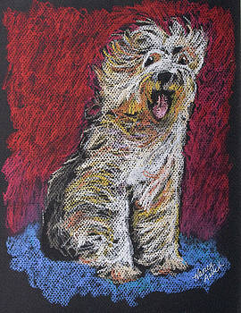 Happy The English Sheepdog by Michele Hollister - for Nancy Asbell