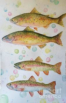 Happy Trout by Patricia Pushaw