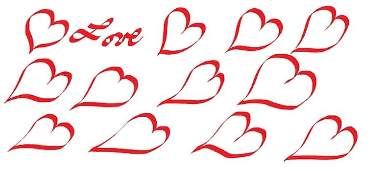 Happy Valentine's Day 888 by Linda Velasquez
