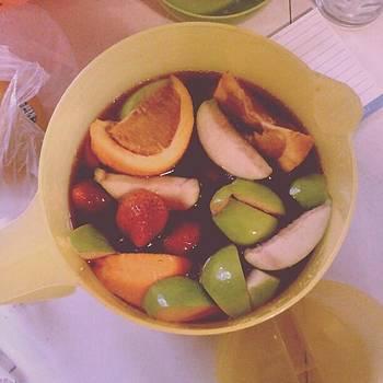 Happy Weekend! #sangria #apples by Melanie Conway