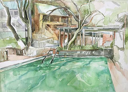 Harbin Hotsprings Pool by Abbie Rabinowitz