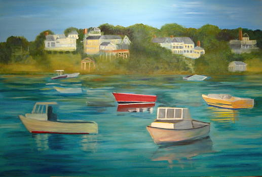 Harbor Boats - Cape Cod by Betsy Cullen