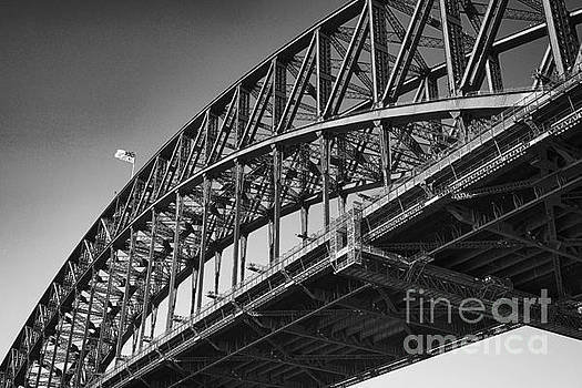 Harbor Bridge in Black and White by Yew Kwang