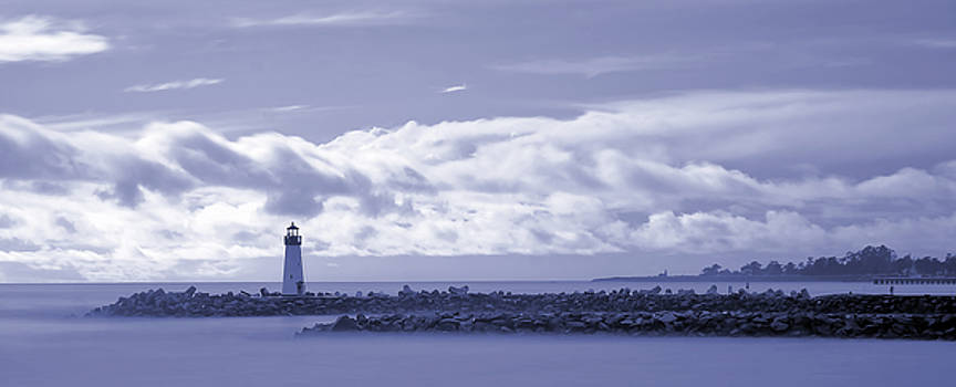 Harbor Lighthouse Cyan by Nick Borelli