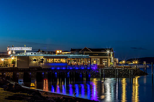 Harbor Lights During Blue Hour by Rob Green