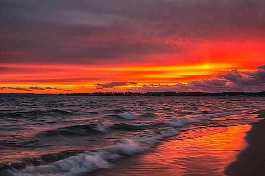 Harbor Springs Michigan Sunset by J Thomas