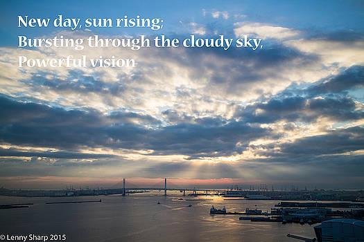 Leonard Sharp - Harbor sunrise - Haiku