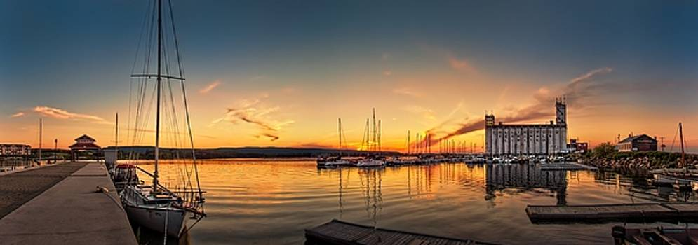 Harbour at sunset by Jeff S PhotoArt