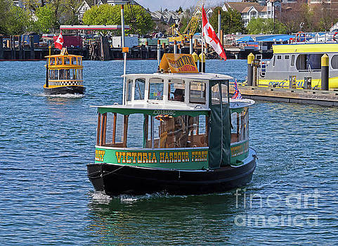 Harbour Ferries in Victoria British Columbia Canada by Louise Heusinkveld