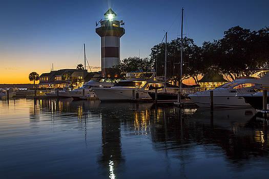 Harbour Town at Sunset Hilton Head Island by Greg Grupenhof