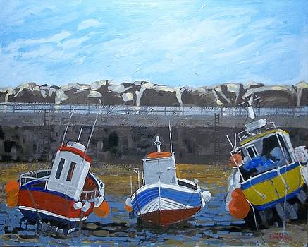 Harbour Wall Staithes by Fred Urron