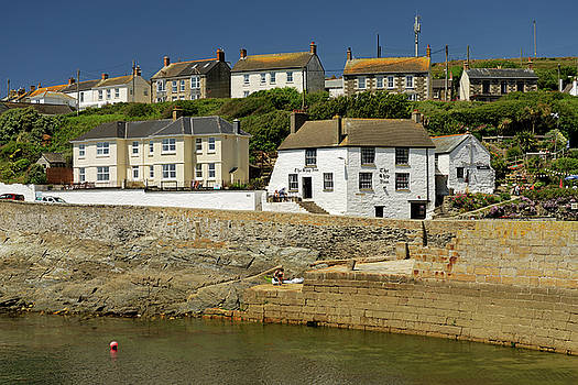 Harbourside Buildings - Porthleven by Rod Johnson