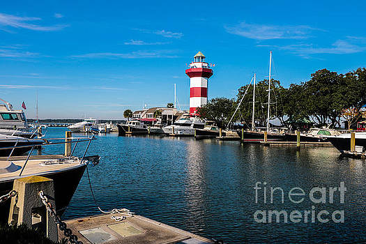 Harbourtown Lighthouse and Harbor by Thomas Marchessault