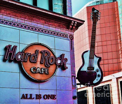 Hard Rock Cafe Sign and Guitar by Colin Cuthbert