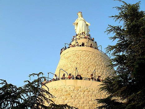 Harissa Our Lady Of Lebanon by Therese AbouNader