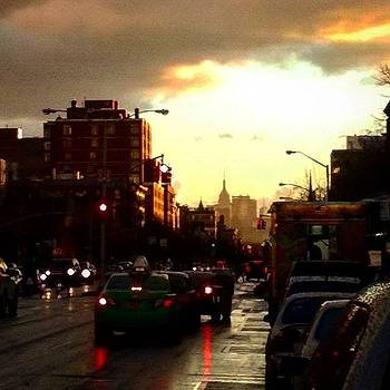 Harlem Heading Downtown W/ A Silhouette by Christopher M Moll