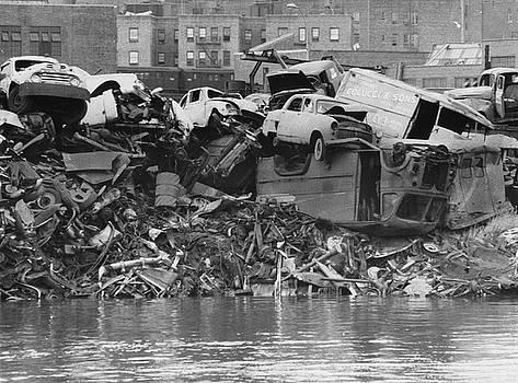 Harlem River Junkyard, 1967 by Cole Thompson