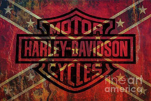 Harley Davidson Logo Confederate Flag by Randy Steele