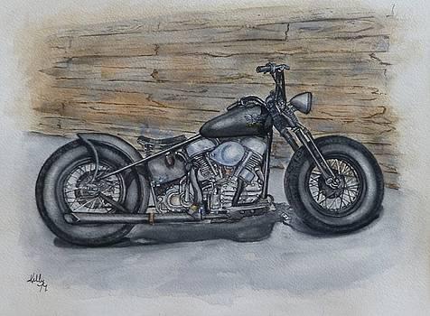 Harley-Davidson Panhead 1950 by Kelly Mills