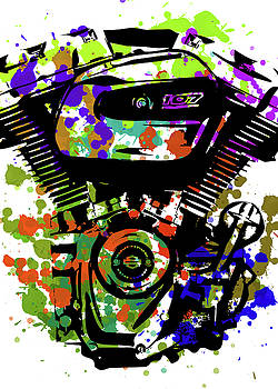 Harley Davidson Pop Art 1 by Ricky Barnard