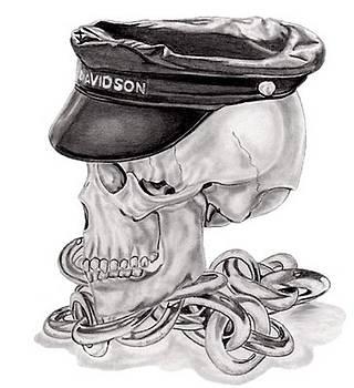 Harley Skull by Steve Ramer