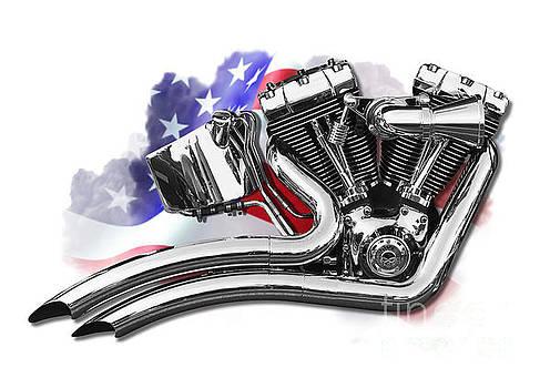 Harley v twin by Carl Shellis