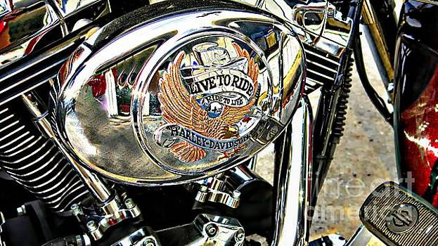 Harley Wheels by Anne Pendred