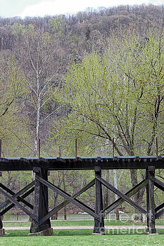 Harpers Ferry Train Tracks by Karen Adams
