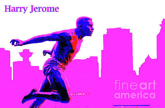 Harry Jerome Statue Stylized by Maria Janicki