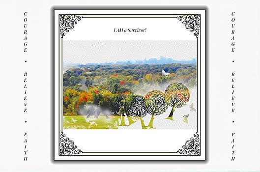 Hartford Connecticut Skyline watercolor - Encouragement Cards by Linda Ouellette