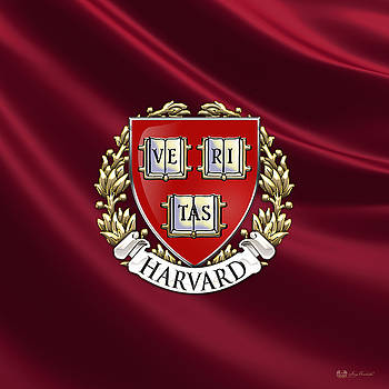 Serge Averbukh - Harvard University Seal Over Colors