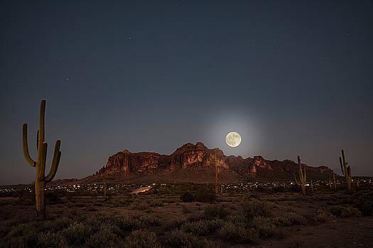 Harvest Moon Over Superstition Mountain by Trish VanHousen