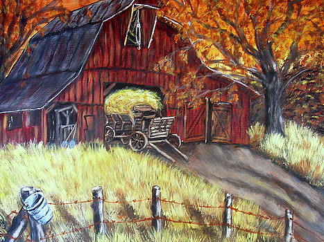 Harvest Time on the Farm by Vickie Wooten