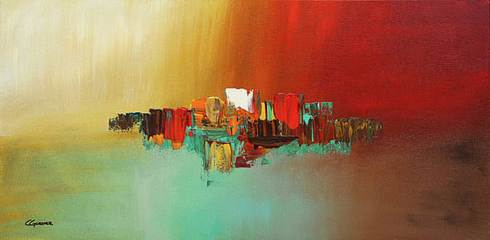 Hashtag Happy - Abstract Art by Carmen Guedez