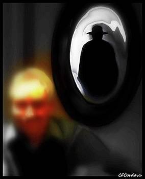 Hat Man/Shadow Person by Carmen Cordova