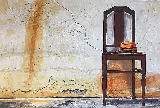Hat on a Chair by Sharon Gerber