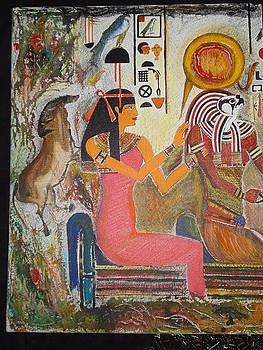 Hathor and Horus by Prasenjit Dhar