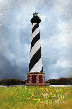 Hatteras Lighthouse Outer Banks on a Stormy Cloudy Day AP by Dan Carmichael