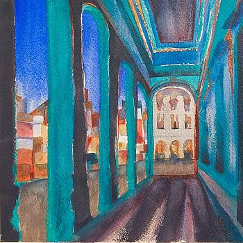Havana Blue Arches 1 by Lynne Bolwell