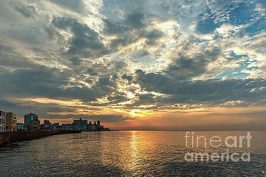 Havana, Malecon at sunset by Viktor Birkus