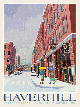 Haverhill Cultural District_Snow by Leslie Alfred McGrath