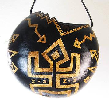 Hawaii Five-O Tiki Hand-Carved Gourd Hanging Planter by Vagabond Folk Art - Virginia Vivier