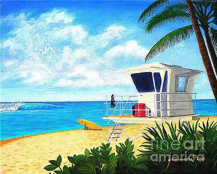 Hawaii North Shore Banzai Pipeline by Jerome Stumphauzer