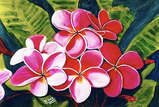 Hawaii Tropical Plumeria flower #126 by Donald k Hall